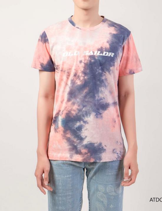 O.S.L Tie Dye T-Shirt - Pink _ Dark Blue - Áo thun loang màu Old Sailor - Hồng _ Xanh