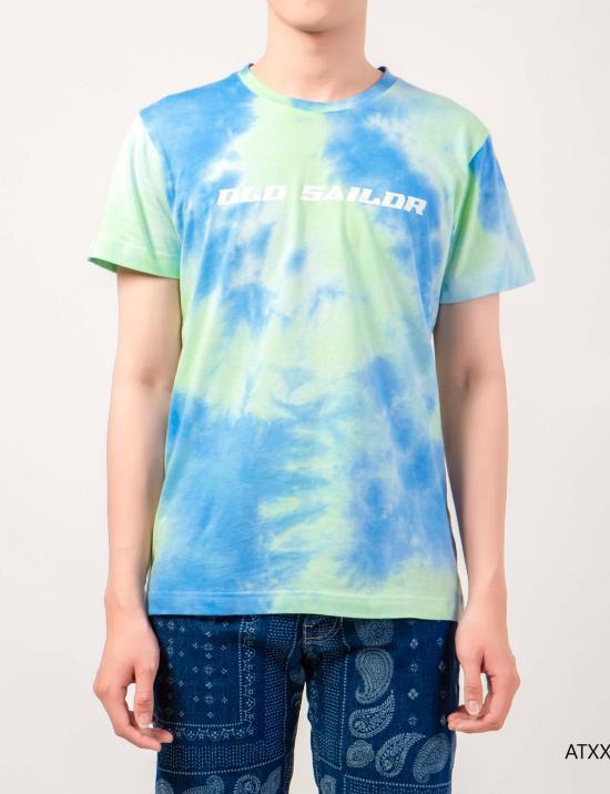 O.S.L Tie Dye T-Shirt - Sky Blue - Green -  Áo thun loang màu Old Sailor - Xanh ngọc bích _ Da trời