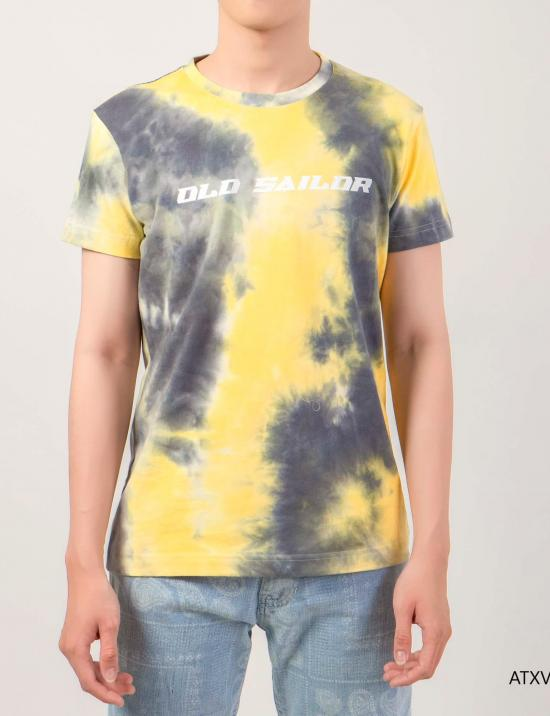O.S.L Tie Dye T-Shirt - Yellow _ Black -  Áo thun loang màu Old Sailor Vàng _ Đen