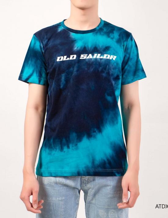 O.S.L Tie Dye T-Shirt - Aqua _ Marine -  Áo thun loang màu Old Sailor - Xanh dương _ Xanh ngọc