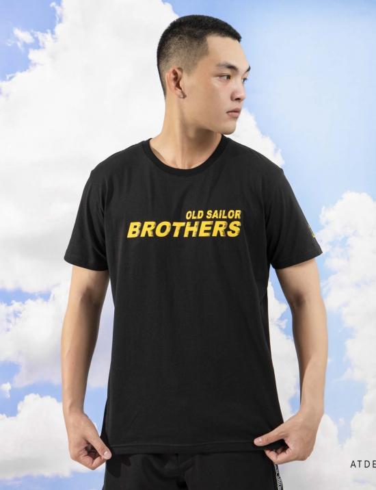 O.S.L T-SHIRT - BLACK - Áo thun graphic Old Sailor Brothers - Đen